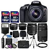 Canon-EOS-Rebel-T6-Digital-SLR-Camera-Canon-18-55mm-EF-S-f35-56-IS-II-Lens-EF-75-300mm-f4-56-III-Lens-Wide-Angle-Lens-58mm-2x-Lens-Auto-Power-Flash-48GB-SDHC-Card-Accessory-Bundle