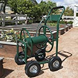 Portable Rapid Garden Hose Storage Reel with Wheels