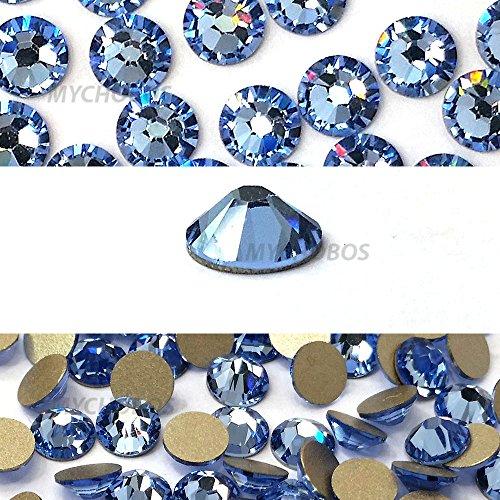 LIGHT SAPPHIRE (211) blue Swarovski NEW 2088 XIRIUS Rose 34ss 7mm flatback No-Hotfix rhinestones ss34 18 pcs (1/8 gross) *FREE Shipping from Mychobos (Crystal-Wholesale)*