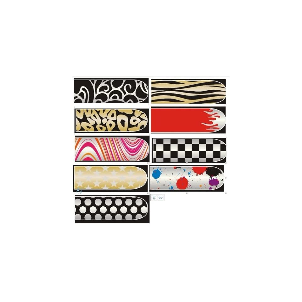 BK 16 Sheets Nail Art Stickers Decals 9 Different Styles