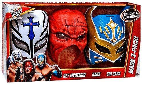 Mask 3-Pack Rey Mysterio, Kane & Sin Cara