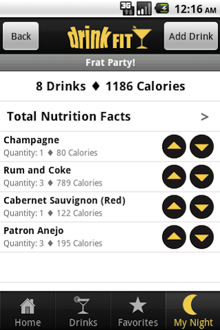 DrinkFit - Beer, Cocktails, Liquor & Wine Nutrition Facts - Amazon Mobile Analytics and App Store Data