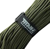 "TITAN MIL-SPEC 550 Paracord / Parachute Cord, 103 Continuous Feet, 620 lb. Breaking Strength - Authentic MIL-C-5040, Type III, 7 Strand, 5/32"" (4mm) Diameter, 100% Nylon Military Survival Cordage. Includes 3 FREE Paracord Project eBooks."