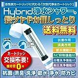 シャワー浄水器 HyBrid浄水シャワー(プレミアム)【ブルー】抗菌 消臭 洗浄 節水 防カビ シャワーヘッド