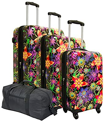 Heys USA Tivoli Floral Burst 4 Piece Set, D1278