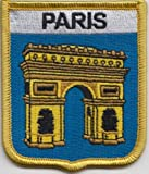 Paris Champs-Ãlysées Arc de Triomphe France Flag Embroidered Patch Badge