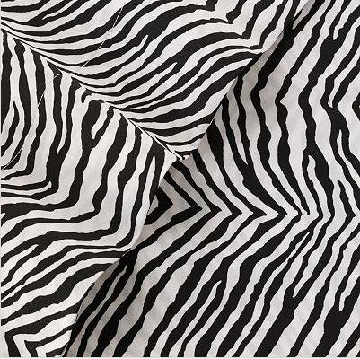 Martex Studio Cotton Full Sheet Set Zebra Black/ White back-520915