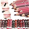 COOSA 12pcs Women's Professional Makeup Lipliner Waterproof Lip Liner Pencil Set by Coosa