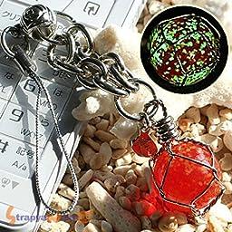Hamee Original Okinawa Chura Stone Glow-in-the-dark Jewelry Cell Phone Strap Wire (Red July)