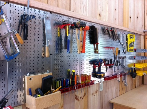 Wall Control 30 P 3232gv Galvanized Steel Pegboard Pack