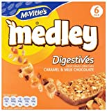 Mcvities Medley Caramel & Milk Chocolate Digestive Biscuits 6 X 30 g (Pack of 3)