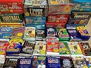 NFL Football (100) Cards in Sealed Wax Packs Topps Score Pro Set Upper Deck Fleer Ultra Old Vintage