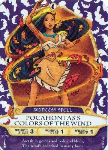 Sorcerers Mask of the Magic Kingdom Game, Walt Disney World - Card #51 - Pocahontas's Colors of the Wind - 1