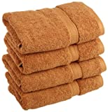 Superior 900 Gram Egyptian Cotton 4-Piece Hand Towel Set, Rust