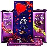 Cadbury Dairy Milk Silk Fruit & Nut, Roasted Almond, Plain Silk & Special Silk Valentine Pack Combo Chocolates...