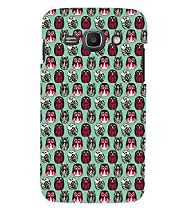 Printvisa Green And Red Owl Pattern Back Case Cover for Samsung Galaxy Core i8262::Samsung Galaxy Core i8260