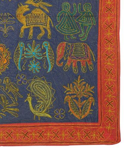 Imagen 3 de Vintage Indian Elephant Tapiz colgante de pared Throw Art Antique Decor India Tamaño 60 x 37 pulgadas