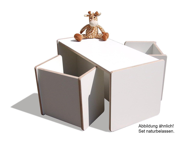 1 Kinder Wendetisch & 4 Wendehocker Set – naturbelassen – sehr stabil günstig