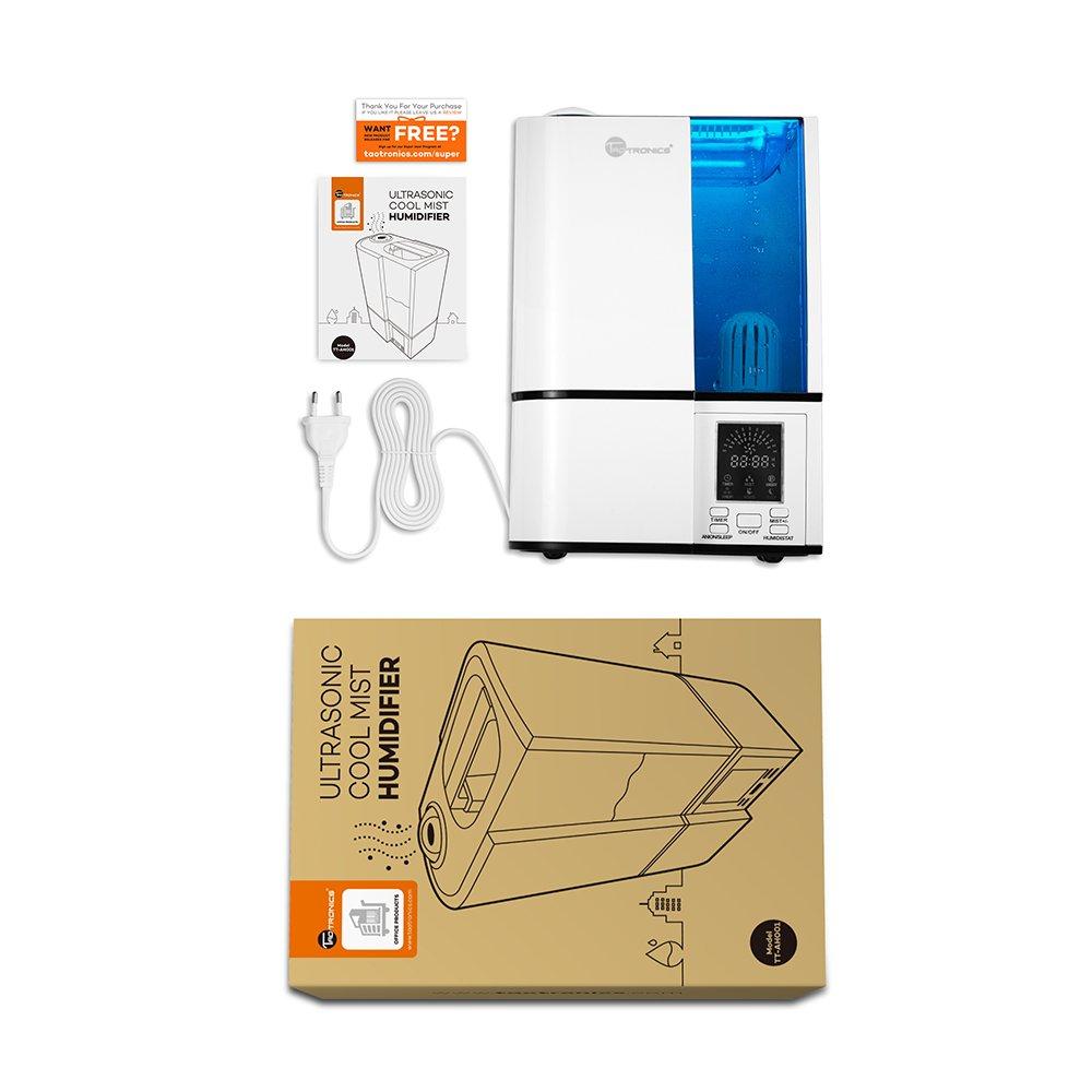humidificateur ultrasonique d int rieur vaporisation fra che de chez taotronics les. Black Bedroom Furniture Sets. Home Design Ideas