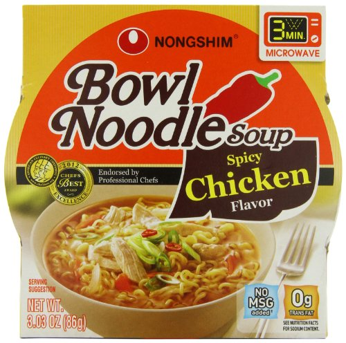 Nongshim Spicy Chicken Noodle Bowl, 3.03 Ounce (Pack Of 12)