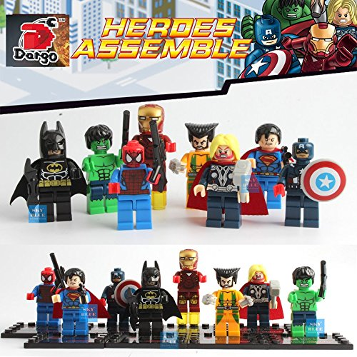 The Avengers Marvel DC Super Heroes Series 8 Pcs Set Minifigures Building Toys New Compatible With Lego