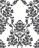 Graham and Brown 18126 Suzanne Wallpaper, White/Black