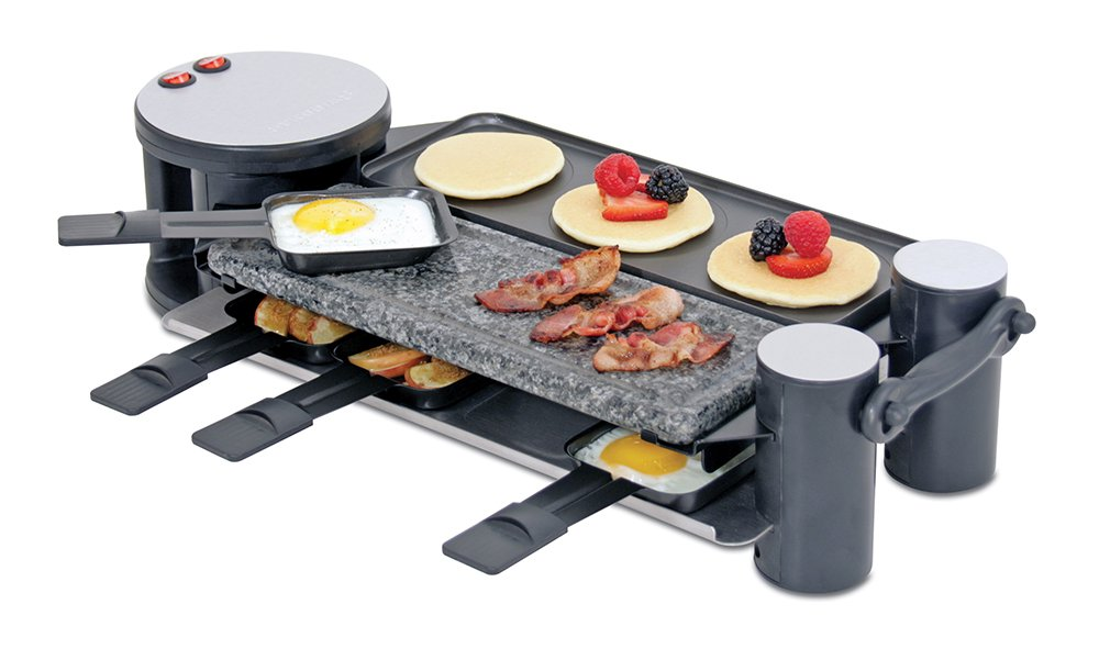 Amazon.com: Swissmar KF-77073 Swivel 8 Person Raclette Party Grill ...
