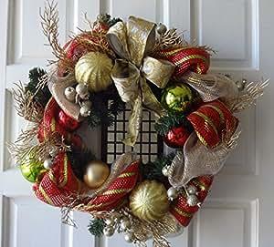 24 Christmas Decor Mesh Wreath Home Kitchen
