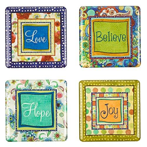 Joyful garden inspirational fridge magnet set 4 office for Office display board