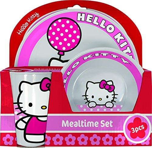 Bbs 6869333 Coffret 3 Pièces Hello Kitty  Mélamine/Plastique Tulipe 24 x 37,5 x 23,7 cm