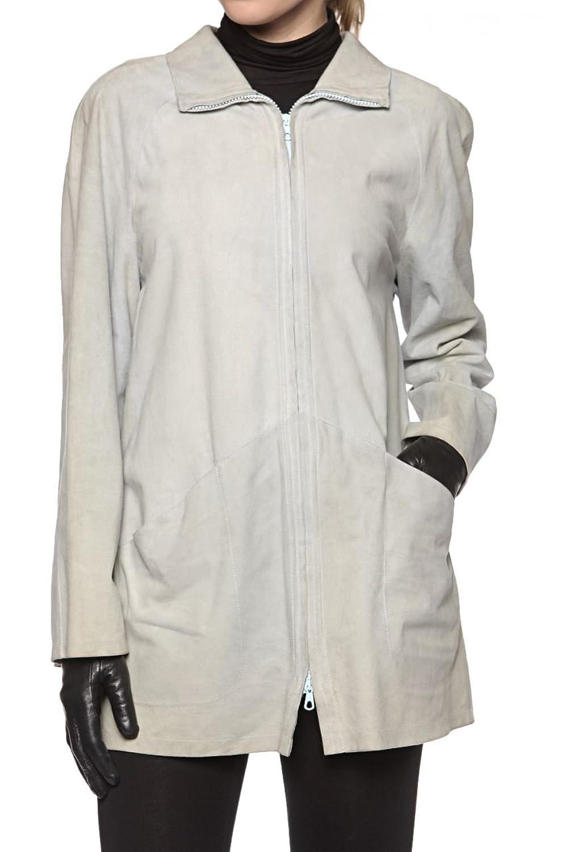 Cristiano di Thiene Basic Line Damen Jacke Lederjacke ZETA, Farbe: Hellgruen kaufen