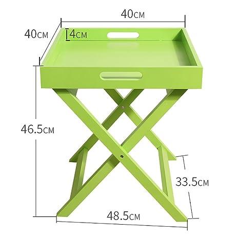 SFBZ Mesa auxiliar pequeña Nórdico Creative Mini Mesa cuadrada Sofá Mesa de centro lateral (multicolor) mesas auxiliares ( Color : A )