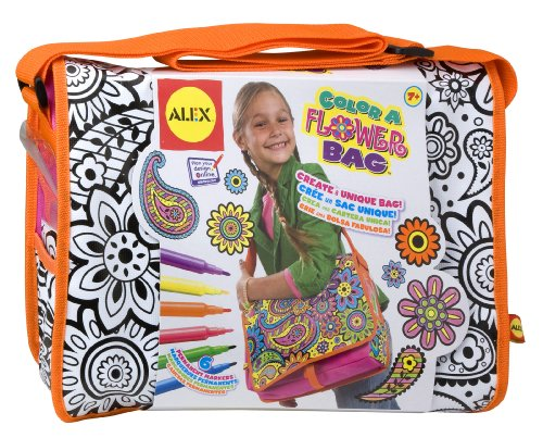 ALEX Toys Color a Bag & Accessories Color A Flower Bag