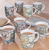 8 Piece William Morris Mug Set
