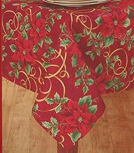 "Amazon.com - Printed Linen Fabric Woven Tablecloth 60"" X ..."