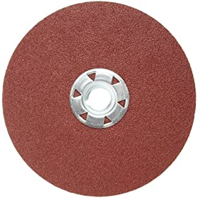 Norton Gemini Metalite F226 Abrasive Disc, Metal Three-Finger Quick Change, Fiber Backing, Aluminum Oxide