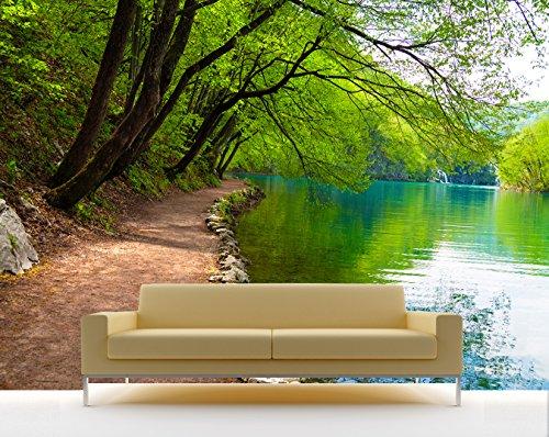 bilderdepot24 selbstklebende fototapete flussufer 310x200 cm direkt vom hersteller. Black Bedroom Furniture Sets. Home Design Ideas