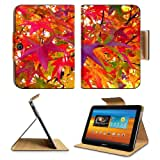 Multi Colored Autumn Leaves Fall Samsung Galaxy Tab 3 10.1 Flip Case Stand Magnetic Cover Open Ports Customized...