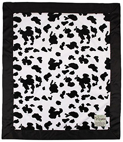 "My Blankee Cow Minky Baby Blanket, 30"" X 35"", Black/White"