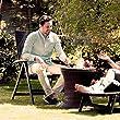 Blumfeldt-Korsika-Garten-Stuhl-Holz-Optik-Alu-Klappstuhl-mit-Armlehnen-geflochtenes-Design-wetterfest-aus-Aluminium-und-Polyrattan-klappbar-Rckenlehne-verstellbar-braun