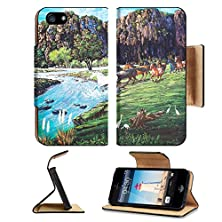 buy Apple Iphone 5 Iphone 5S Flip Case Oil Painting On Canvas Horses In The Forest Image 12836775 By Msd Customized Premium Deluxe Pu Leather Generation Accessories Hd Wifi Luxury Protector