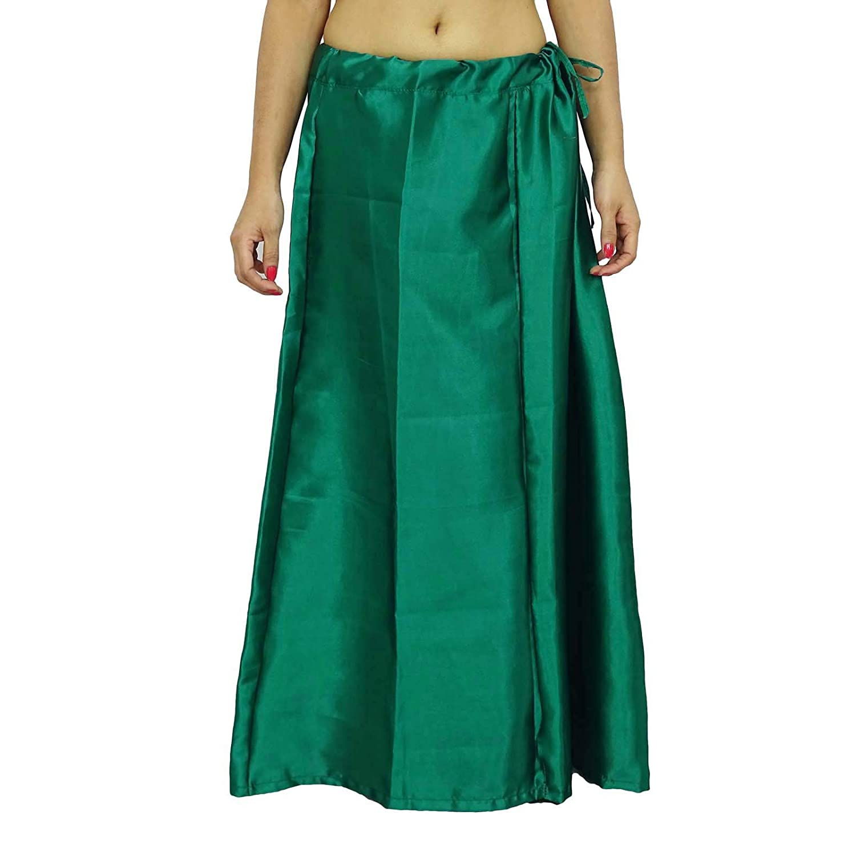Solide Petticoat Satin Silk Inskirt Bollywood-Futter für Sari Frauen tragen