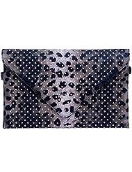 Super Drool Embellished Animal Skin Print Envelope Clutch - B013LLBZ6M