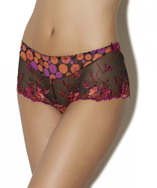 Aubade Panty Slip Fleurs de Pommier XS S M L Farbe POP schwarz, orange pink GA70 jetzt bestellen