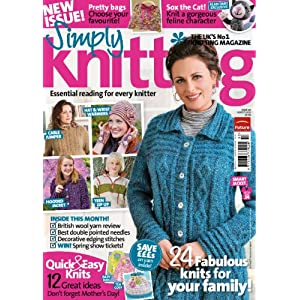 61xvUDiwGQL. SL500 AA300  Simply Knitting Magazine