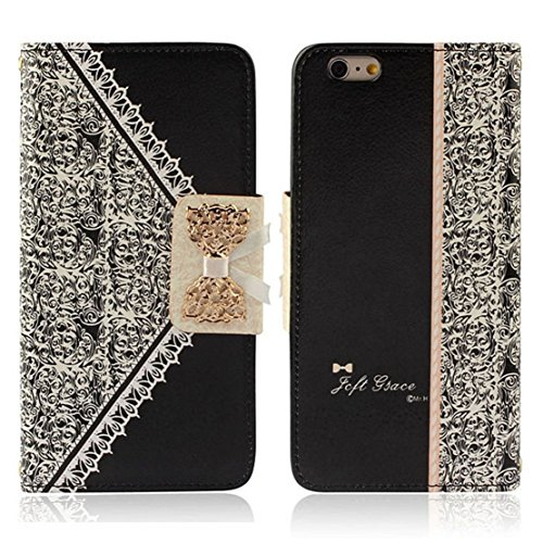 Sale!! LANDFOX 2015 Fashion Colorful Fresh Cute Flip Wallet Leather Case Cover for Iphone 6 Plus 5.5...