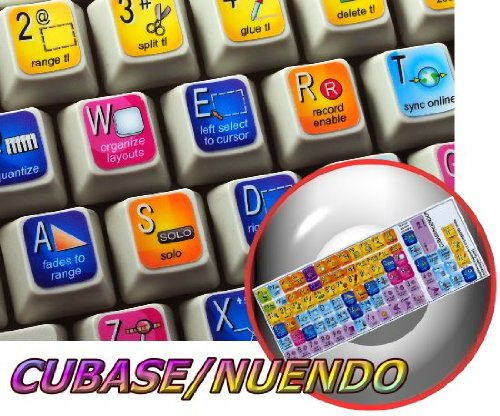 STEINBERG CUBASE / NUENDO KEYBOARD STICKERS FOR DESKTOP, LAPTOP AND NOTEBOOK