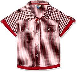 People Boys' Shirt (P30502156001825_Rose Red _7-8 Yrs)
