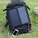 Levin™ Sol-Wing 13W Ultra-slim Highest Efficiency Solar Panel Portable Solar Charger Compatible with GPS Units, iPhone, iPad, Samsung, LG, Nokia, Motorola, Blackberry, eReaders, Bluetooth Speakers, Gopro Cameras, Mp4, Mp5, Andriod Tablets & All Other 5V USB Devices