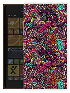 """Humor Gang Super Trippy Neon Color Printed Designer Mobile Back Cover For """"Nokia Lumia 730"""" (3D, Matte, Premium Quality Snap On Case)"""